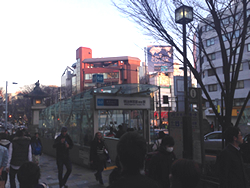 You can see the MEIJI-JINGUMAE Station exit5.